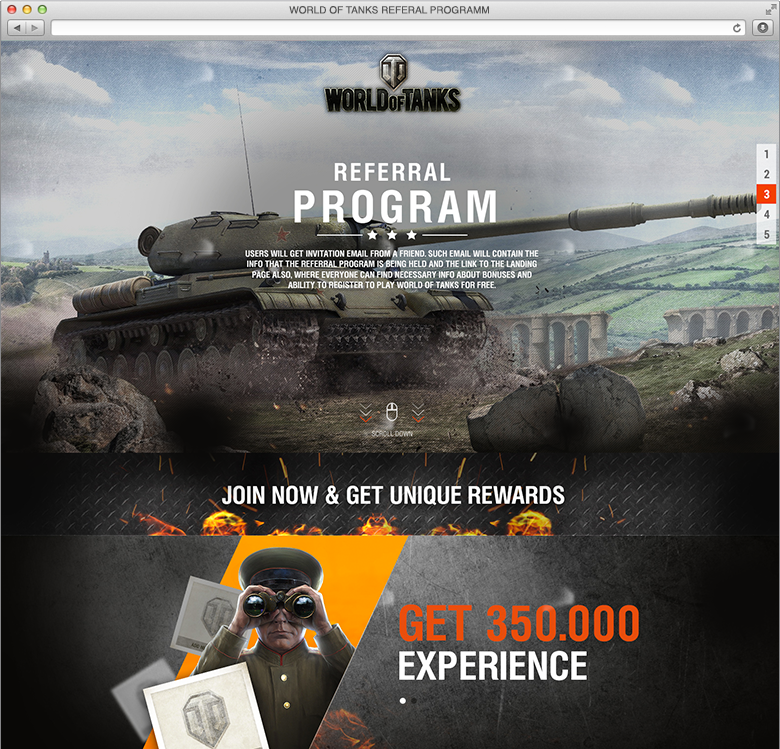 World of Tanks partner's program promo