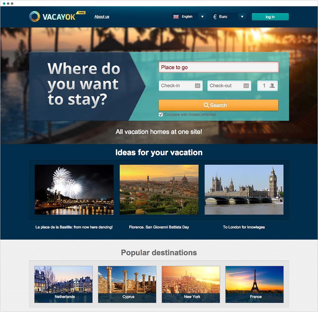 Short term rent searching platform - Portfolio - AXIOMA