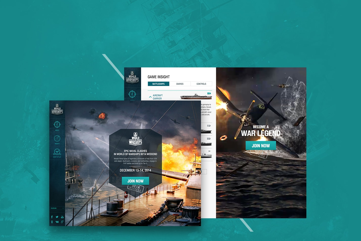 A website that was prepared for the beta testing of World of Warships